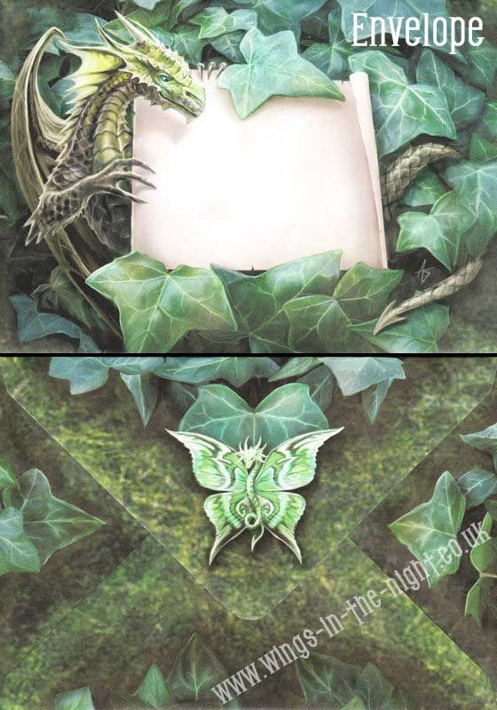 Anne stokes gothic dragon woodland guardian greeting card m4hsunfo